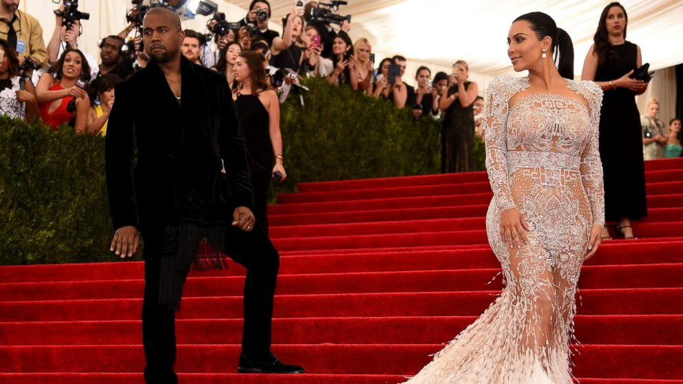 "Kanye West and Kim Kardashian West attend the ""China: Through The Looking Glass"" Costume Institute Benefit Gala at the Metropolitan Museum of Art,  May 4, 2015 in New York."