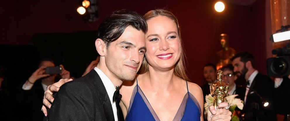 PHOTO: Musician Alex Greenwald (L) and actress Brie Larson, winner of Best Actress for Room, attend the 88th Annual Academy Awards Governors Ball at Hollywood & Highland Center on Feb. 28, 2016 in Hollywood, Calif.