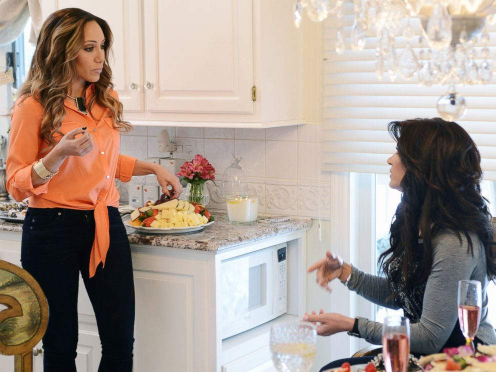 PHOTO: Melissa Gorga, left, and Teresa Giudice in The Real Housewives of New Jersey.