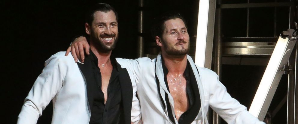 "PHOTO: Maks Chmerkovskiy and Val Chmerkovskiy perform in Maks & Val ""Live on Tour: Our Way"" at The Beacon Theatre, July 8, 2016, in New York."