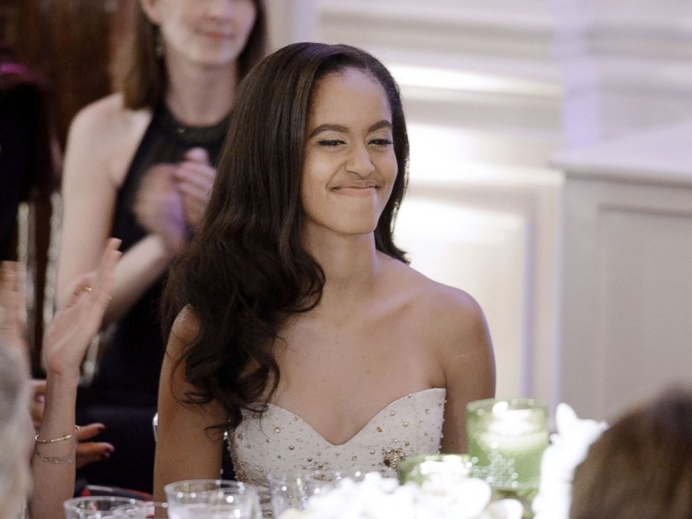 PHOTO: Malia Obama attends a State Dinner at the White House, March 10, 2016, in Washington.