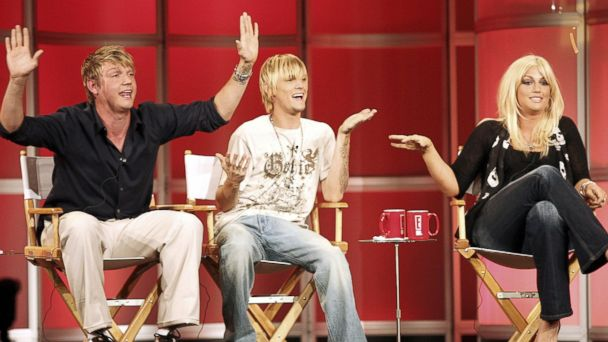 PHOTO: Nick Carter, Aaron Carter and Leslie Carter speak during the 2006 Summer Television Critics Association press tour for the E Entertainment Network, July 11, 2006, in Pasadena, Calif.