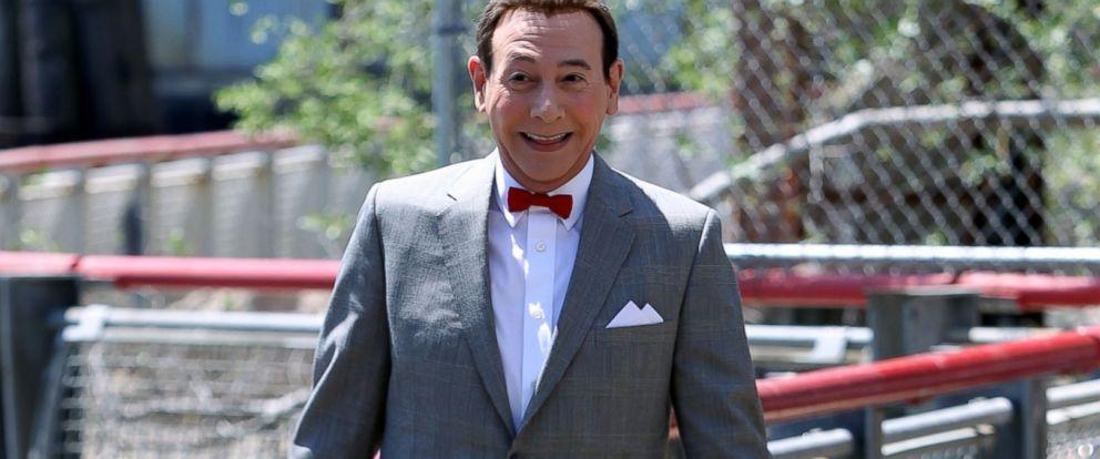 """PHOTO:Paul Reubens as Pee Wee Herman is seen filming, """"Pee Wees Big Holiday,"""" May 7, 2015 in New York."""