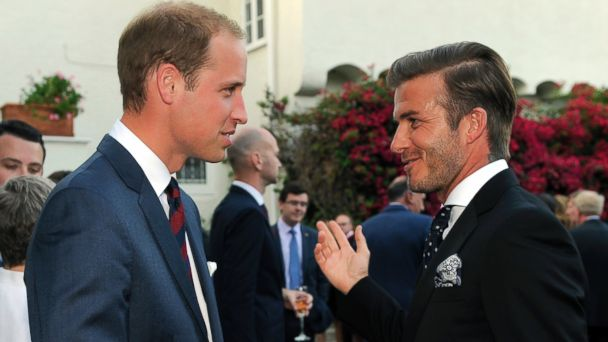 PHOTO: Prince William, Duke of Cambridge, and football star David Beckham attend the Consul General Reception at the Hancock Park home of the British Consulate General on July 8, 2011 in Los Angeles.