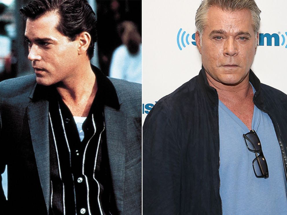PHOTO: Ray Liotta is seen here in Goodfellas. Right, Ray Liotta is seen, May 20, 2015, in New York.