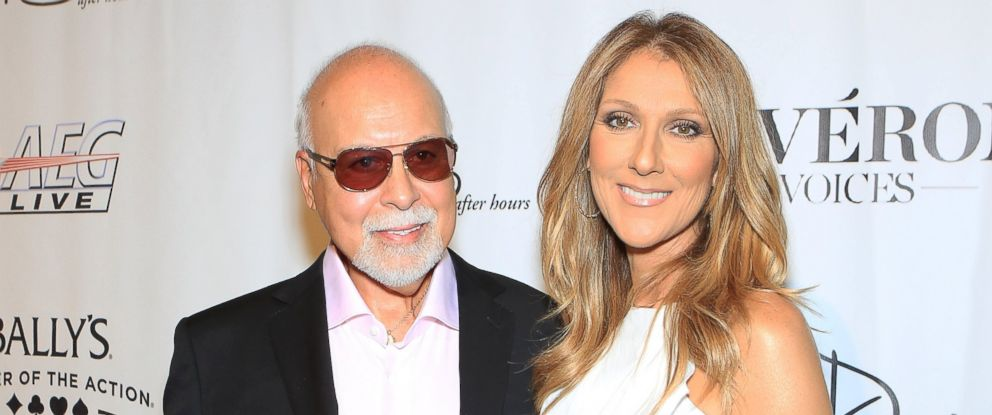 "PHOTO: Rene Angelil and singer Celine Dion arrive at the premiere of the show ""Veronic Voices"" at Ballys Las Vegas in this June 28, 2013 file photo in Las Vegas."