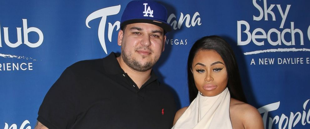 PHOTO: Television personality Rob Kardashian and Blac Chyna attend the Sky Beach Club at the Tropicana Las Vegas, May 28, 2016, in Las Vegas.