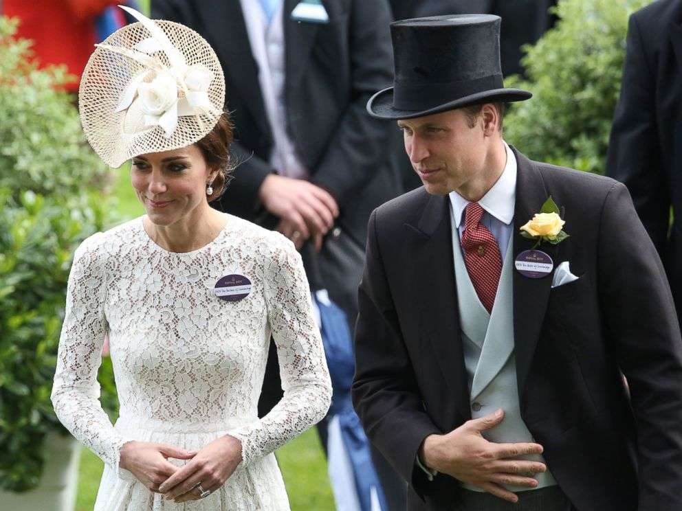 PHOTO: Prince William, Duke of Cambridge, and Catherine, Duchess of Cambridge, attend the second day of the Royal Ascot horse racing meet in Ascot, west of London on June 15, 2016.