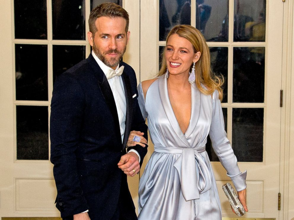 PHOTO: Actors Ryan Reynolds and Blake Lively arrive for the State Dinner in honor of Prime Minister Trudeau and Mrs. Sophie Trudeau of Canada at the White House, March 10, 2016, in Washington.