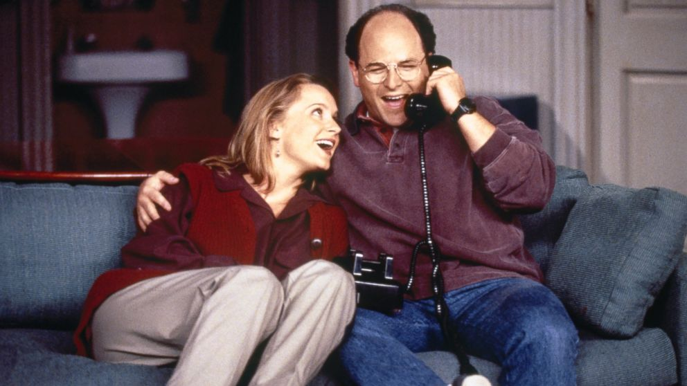 Susan Ross (Heidi Swedberg) and George Costanza (Jason Alexander) become engaged in