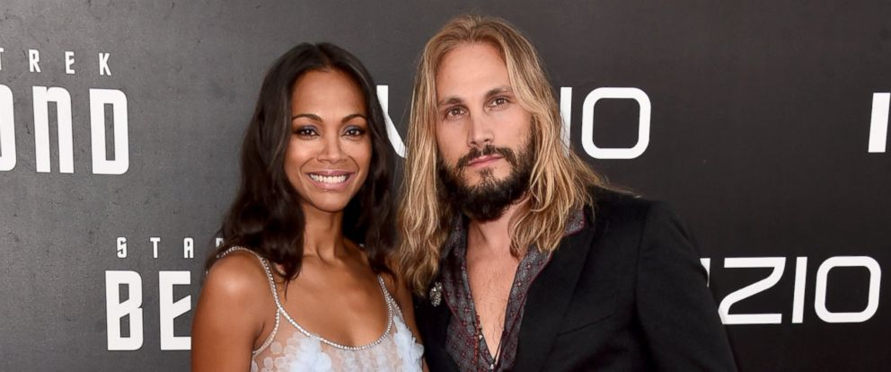 """PHOTO:Zoe Saldana and Marco Perego attend the premiere of Paramount Pictures """"Star Trek Beyond"""" at Embarcadero Marina Park South on July 20, 2016 in San Diego, Calif."""