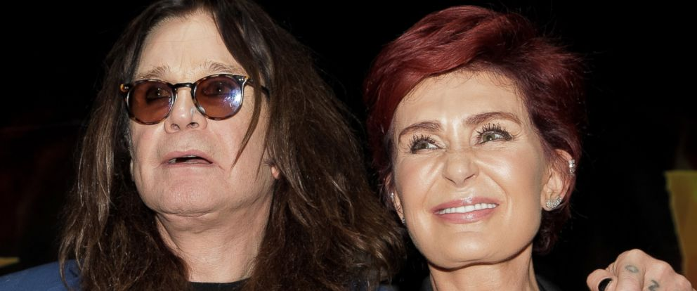 PHOTO: Ozzy Osbourne and Sharon Osbourne attend the Ozzy Osbourne and Corey Taylor special announcement press conference, on May 12, 2016, in Hollywood, California.