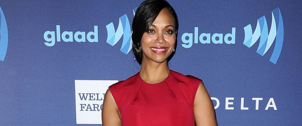 a2af23ddc420 PHOTO: Actress Zoe Saldana attends the 26th annual GLAAD Media Awards at  The Beverly Hilton