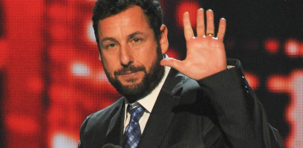 PHOTO: In this file photo, Adam Sandler accepts the Favorite Comedic Movie Actor award onstage at The 40th Annual Peoples Choice Awards show on Jan. 8, 2014 in Los Angeles.