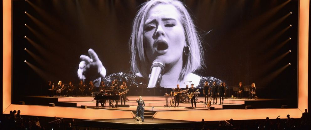 PHOTO: Adele performs onstage at Madison Square Garden, Sept. 19, 2016 in New York City.