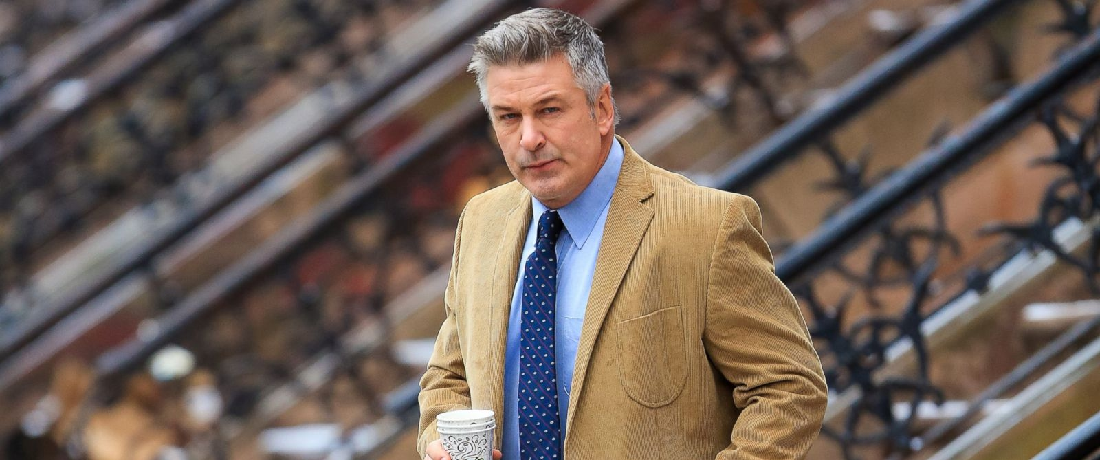"""PHOTO: Alec Baldwin is pictured on location for """"Still Alice"""" on March 3, 2014 in New York City."""