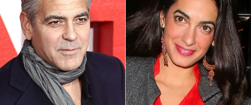 PHOTO: George Clooney, left, and Amal Alamuddin, right.