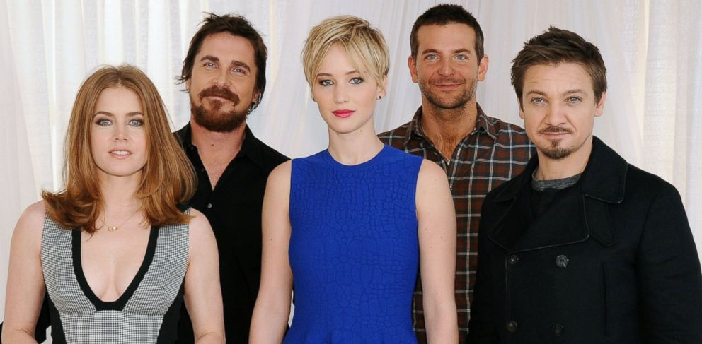 PHOTO: From left, Amy Adams, Christian Bale, Jennifer Lawrence, Bradley Cooper and Jeremy Renner.