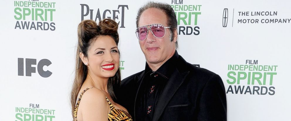 PHOTO: Valerie Silverstein, left, and Andrew Dice Clay, right, are pictured on March 1, 2014 in Santa Monica, Calif.