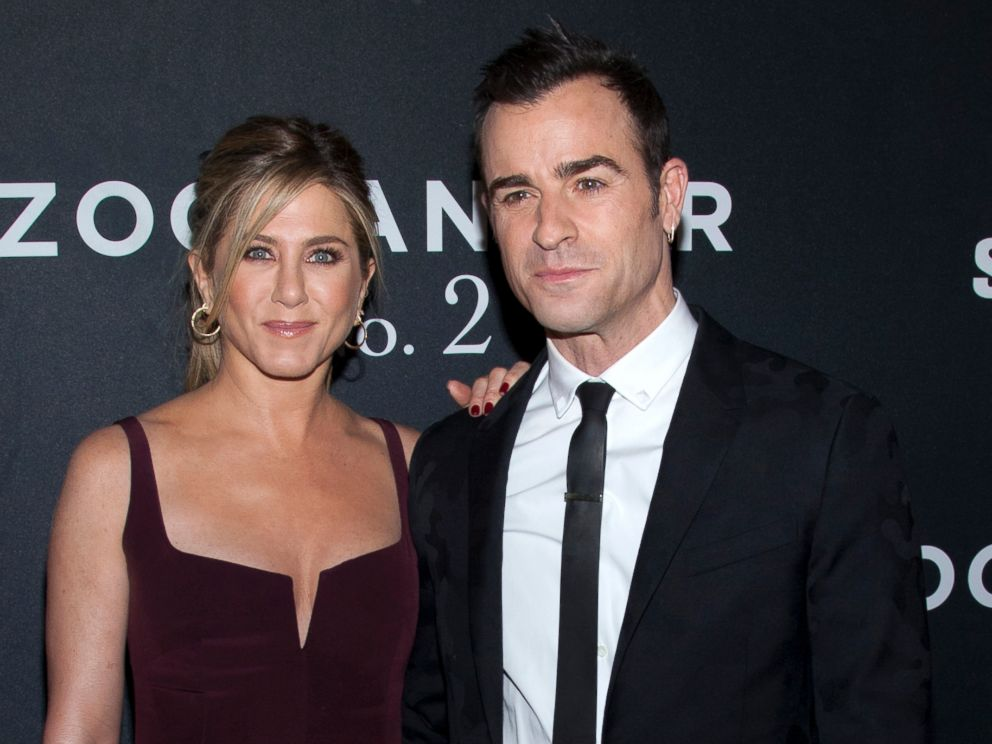 PHOTO: Jennifer Aniston and Justin Theroux attend the Zoolander 2 world premiere at Alice Tully Hall in New York City.
