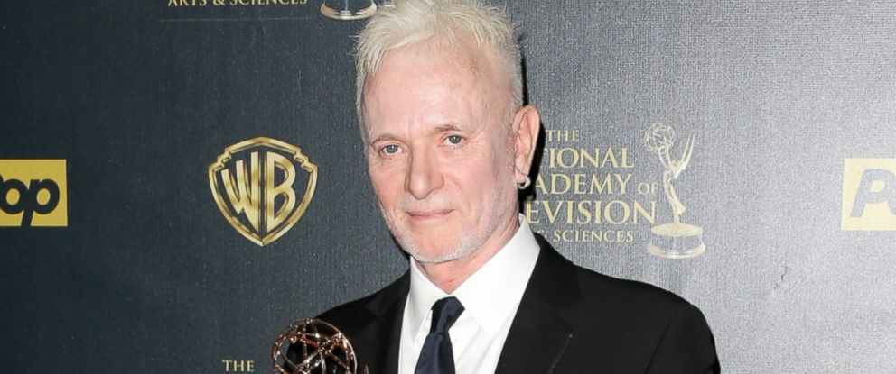 """PHOTO: Anthony Geary accepts Outstanding Lead Actor in a Drama Series award for """"General Hospital"""" poses in the press room during The 42nd Annual Daytime Emmy Awards at Warner Bros. Studios, April 26, 2015, in Burbank, Calif."""