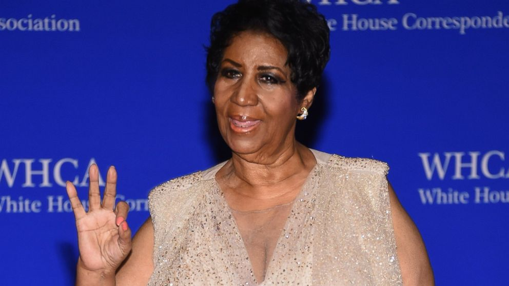 Aretha Franklin attends the 102nd White House Correspondents' Association Dinner  on April 30, 2016 in Washington.