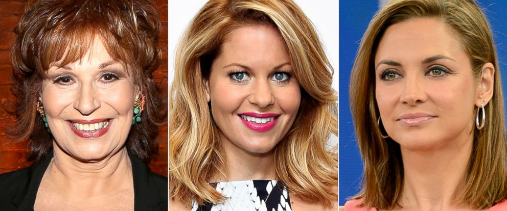 PHOTO: Joy Behar, Candace Cameron-Bure and Paula Faris.