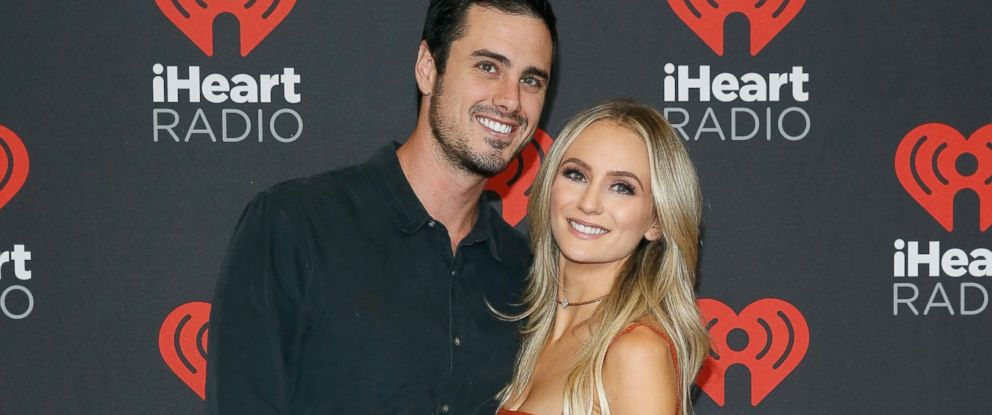 PHOTO: Ben Higgins (L) and Lauren Bushnell attend the 2016 iHeartRadio Music Festival at T-Mobile Arena, Sept. 23, 2016 in Las Vegas