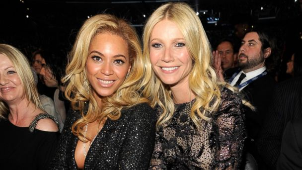 PHOTO: Beyonce and Gwyneth Paltrow attends The 53rd Annual GRAMMY Awards held at Staples Center on Feb. 13, 2011 in Los Angeles.