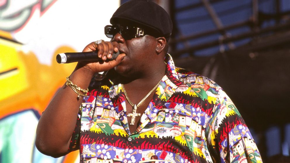 Notorious B.I.G. is pictured in 1995 in Los Angeles.