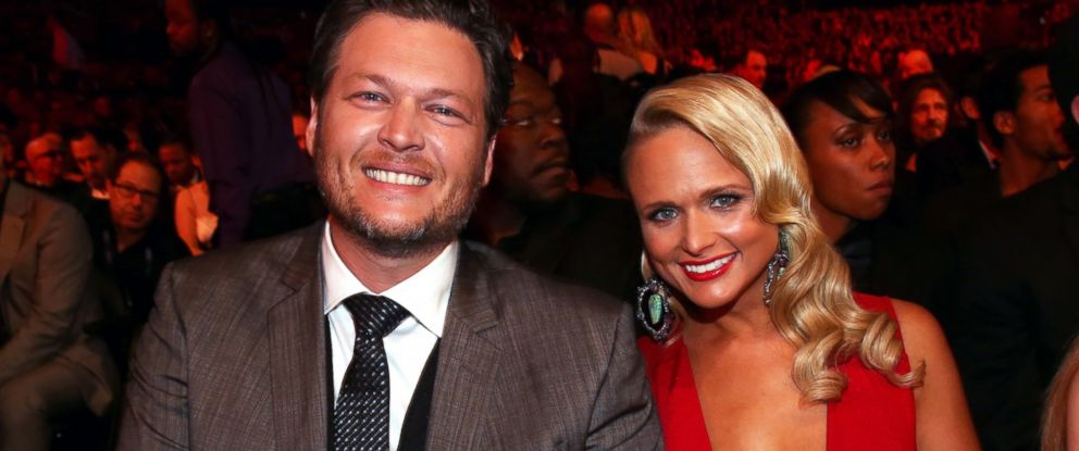 PHOTO:Blake Shelton and Miranda Lambert are seen together at the 56th GRAMMY Awards in this file photo, Jan. 26, 2014 in Los Angeles.