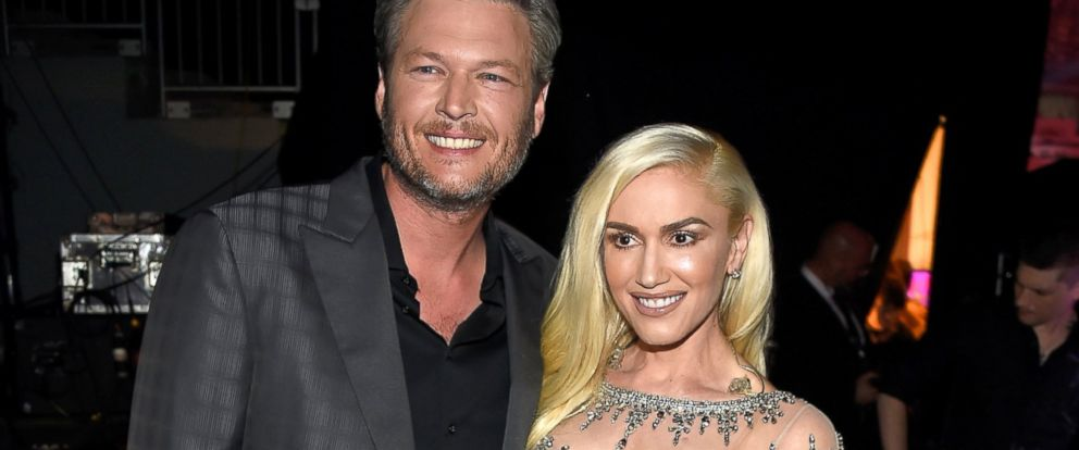 PHOTO: Singers Blake Shelton, left, and Gwen Stefani attend the 2016 Billboard Music Awards at T-Mobile Arena, May 22, 2016 in Las Vegas.