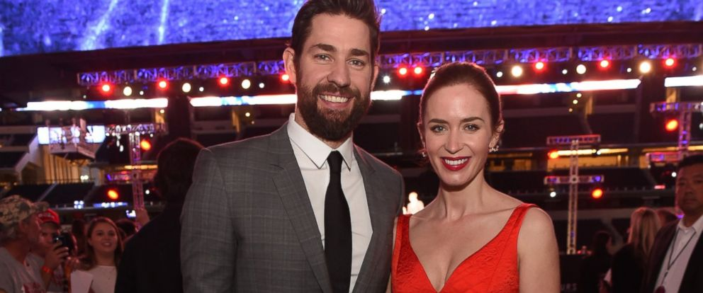PHOTO:John Krasinski and Emily Blunt attend the Dallas Premiere of ?13 Hours: The Secret Soldiers of Benghazi, Jan. 12, 2016, in Arlington, Texas.