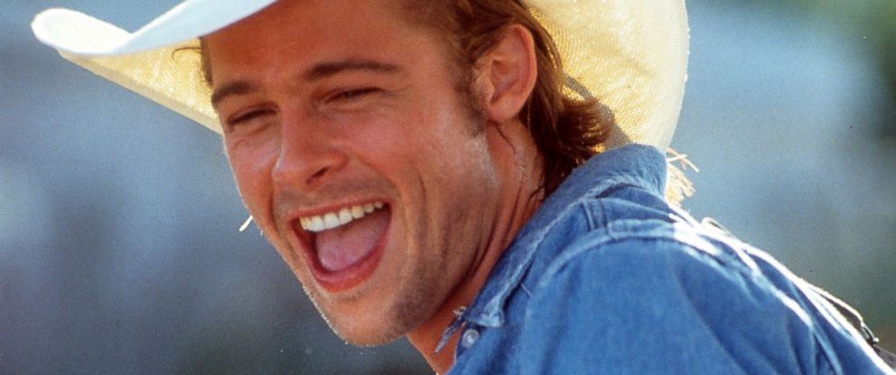 PHOTO: Brad Pitt smiles in a scene from Thelma & Louise.
