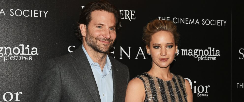 bradley cooper responds to jennifer lawrence s essay on gender pay  photo actors bradley cooper and jennifer lawrence attend a screening of serena hosted