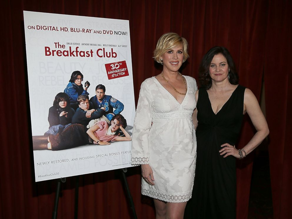 PHOTO: Molly Ringwald and Ally Sheedy celebrate The Breakfast Club 30th Anniversary Edition Blu-ray at SXSW 2015 at the Paramount Theatre, March 16, 2015, in Austin, Texas.
