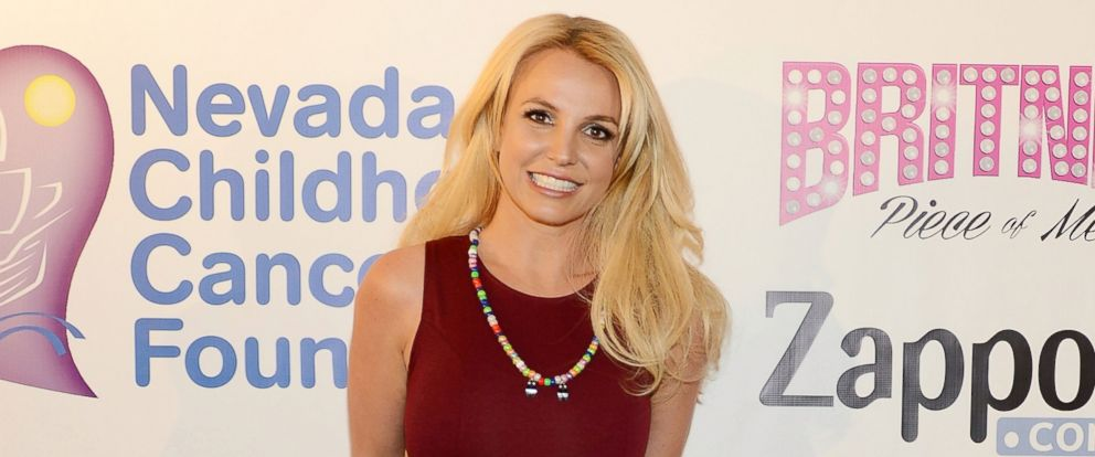 PHOTO: Britney Spears visits the Zappos.com campus in Downtown Las Vegas to celebrate her partnership with the Nevada Childhood Cancer Foundation and Zappos, Feb. 26, 2015, in Las Vegas.