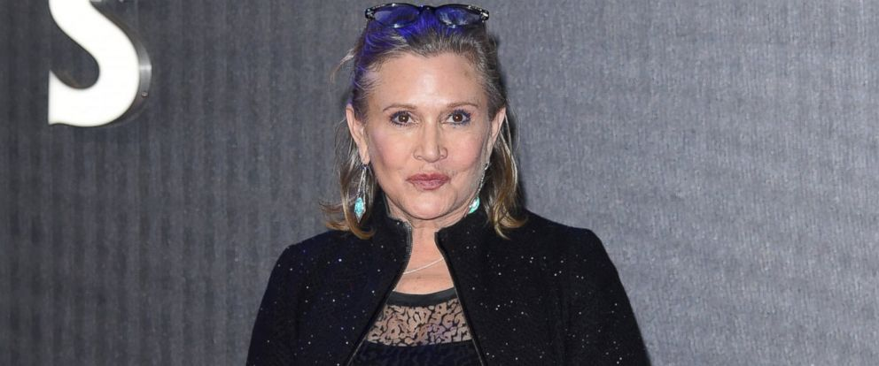 """PHOTO: Carrie Fisher attends the European Premiere of """"Star Wars: The Force Awakens"""" at Leicester Square, Dec. 16, 2015, in London."""
