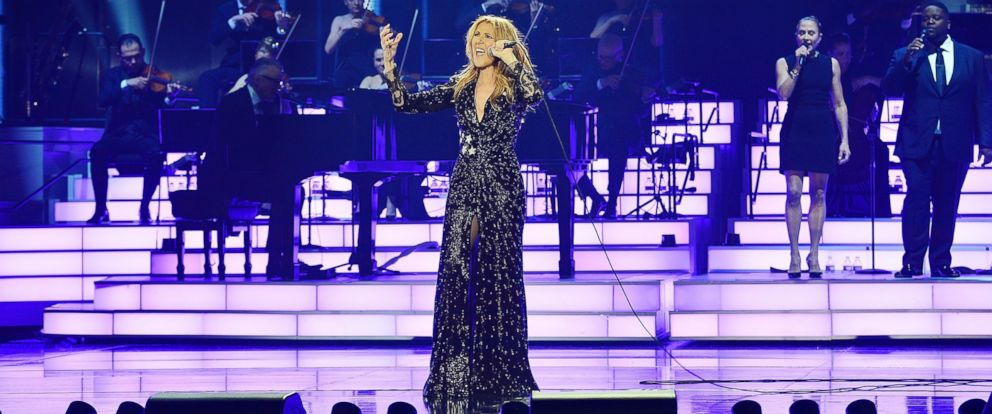 PHOTO: Celine Dion performs during her emotional return to the Colosseum at Caesars Palace, Feb. 23, 2016 in Las Vegas.