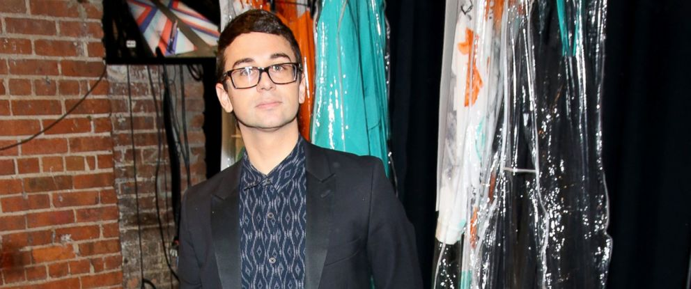 PHOTO: Designer Christian Siriano is seen backstage at the Christian Siriano fashion show during New York Fashion Week at ArtBeam, Sept. 10, 2016 in New York City.