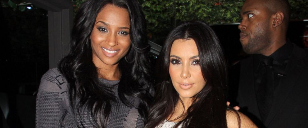 PHOTO: Ciara, left, and Kim Kardashian celebrate Ciaras birthday at Greenhouse in this Oct. 26, 2010, file photo in New York City.
