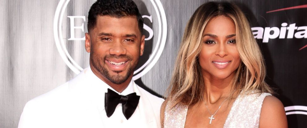 PHOTO: Russell Wilson and Ciara attend The 2016 ESPYS at Microsoft Theater, July 13, 2016 in Los Angeles.