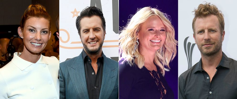 "PHOTO: Faith Hill, Miranda Lambert, Dierks Bentley and Luke Bryan are among country musics biggest stars who have come together to create a music video called ""Forever Country"" in honor of the 50th annual CMA Awards."