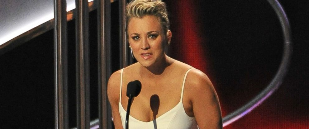 PHOTO: Kaley Cuoco-Sweeting, winner of the Peoples Choice Award for Favorite Comedic TV Actress, speaks onstage during the 41st Annual Peoples Choice Awards at Nokia Theatre LA Live on Jan. 7, 2015 in Los Angeles.