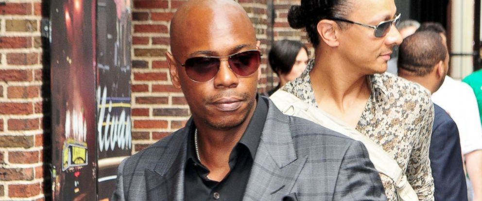 PHOTO: Comedian Dave Chapelle heads to a taping of the Late Show with David Letterman, June 10, 2014, in New York City.