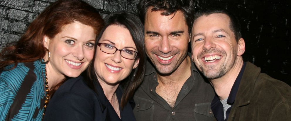 PHOTO: Debra Messing, Megan Mullally, Eric McCormack and Sean Hayes are pictured on May 18, 2006.