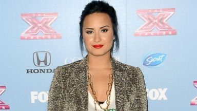 """PHOTO: Demi Lovato arrives at """"The X Factor"""" Finalists Party at SLS Hotel, Nov. 4, 2013, in Los Angeles."""