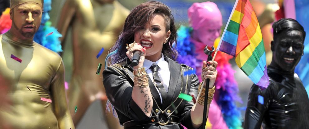 PHOTO: Demi Lovato performs at the L.A. PRIDE 2014 Parade on June 8, 2014 in West Hollywood, Calif.