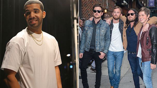 PHOTO: At left, Drake; at right, Kings of Leon.