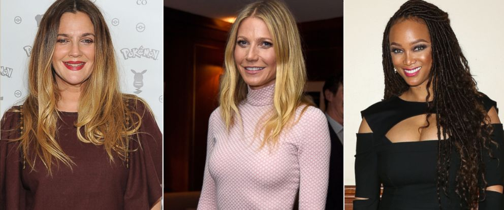 PHOTO:Drew Barrymore attends Pokemon Afternoon Soiree , Feb. 27, 2016, in West Hollywood, Calif. Gwyneth Paltrow attends an event, March 15, 2016, in Los Angeles.Tyra Banks attends a conference, March 19, 2016, in Los Angeles.